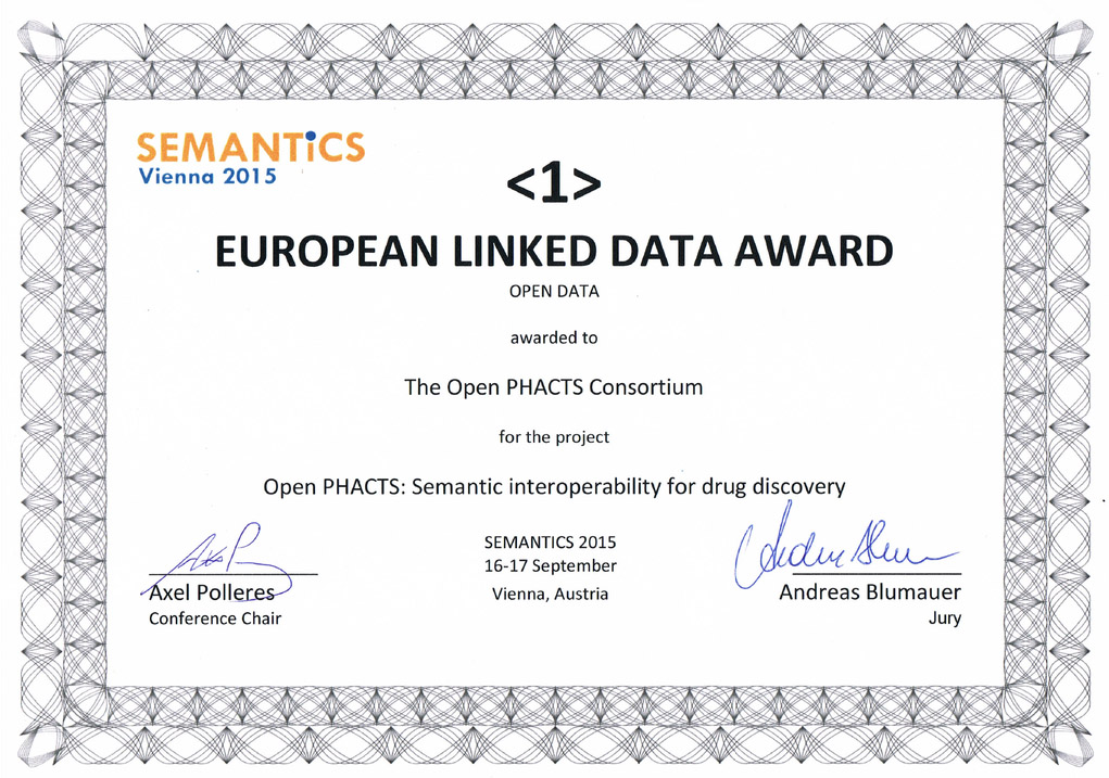 open phacts wins the european linked data contest blog. Black Bedroom Furniture Sets. Home Design Ideas
